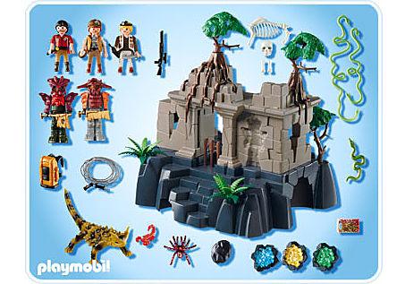 4842-A Temple du trésor avec gardiens detail image 2