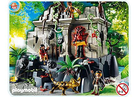 4842-A Temple du trésor avec gardiens detail image 1