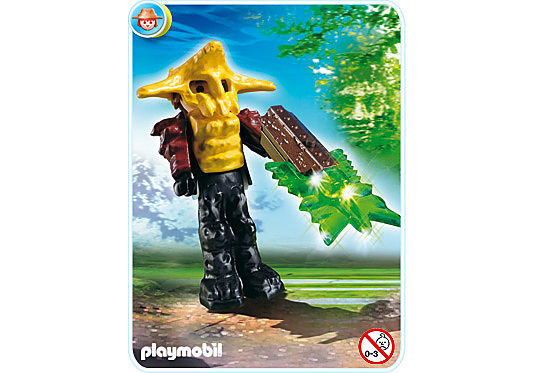 4848-A Gardien du temple avec arme lumineuse verte detail image 1