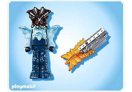 4849-A Gardien du temple avec arme lumineuse orange detail image 2