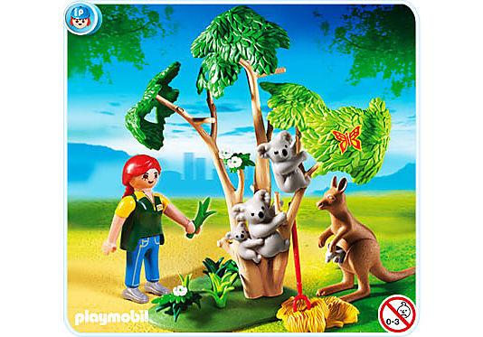 4854-A Arbre à koalas et kangourous detail image 1
