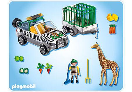 4855-A Zoo-Fahrzeug mit Anhänger detail image 2