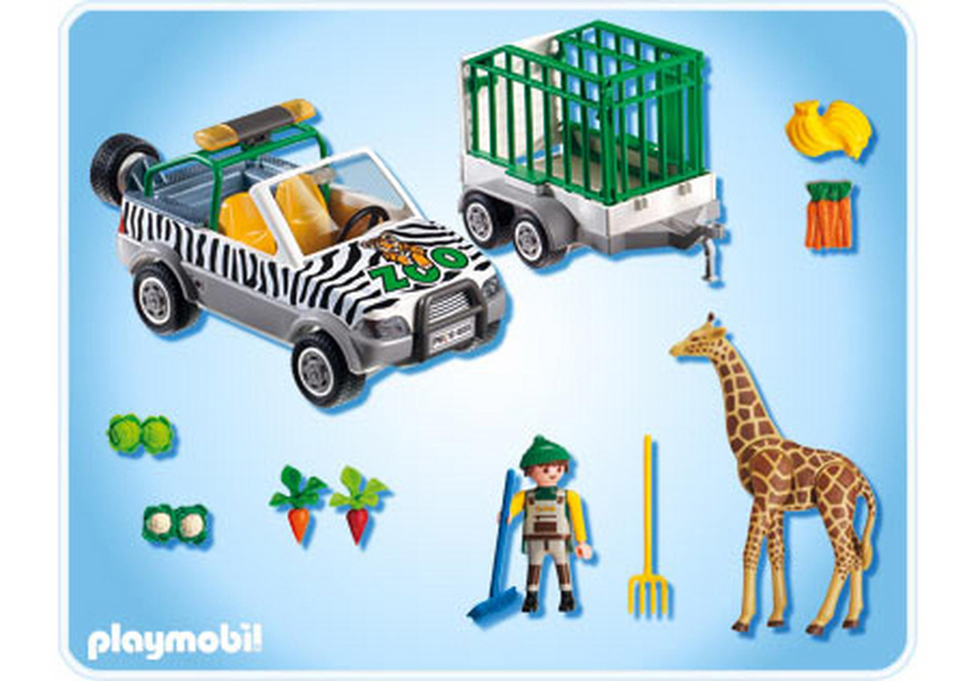 zoo fahrzeug mit anh nger 4855 a playmobil deutschland. Black Bedroom Furniture Sets. Home Design Ideas