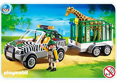 4855-A Véhicule de zoo avec remorque
