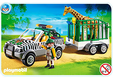 4855-A Zoo-Fahrzeug mit Anhänger detail image 1