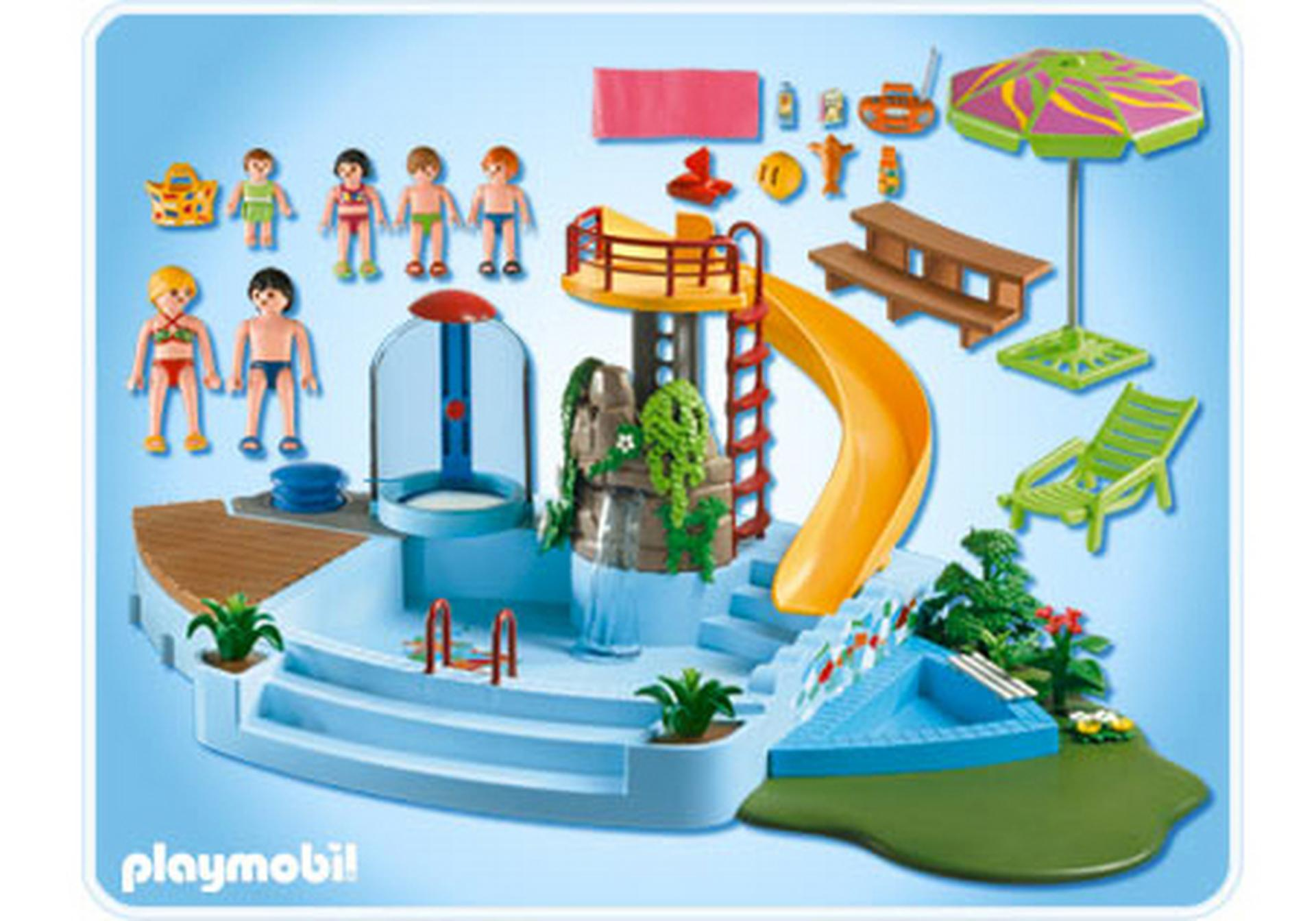 Piscine avec toboggan 4858 a playmobil france for Piscine playmobil prix