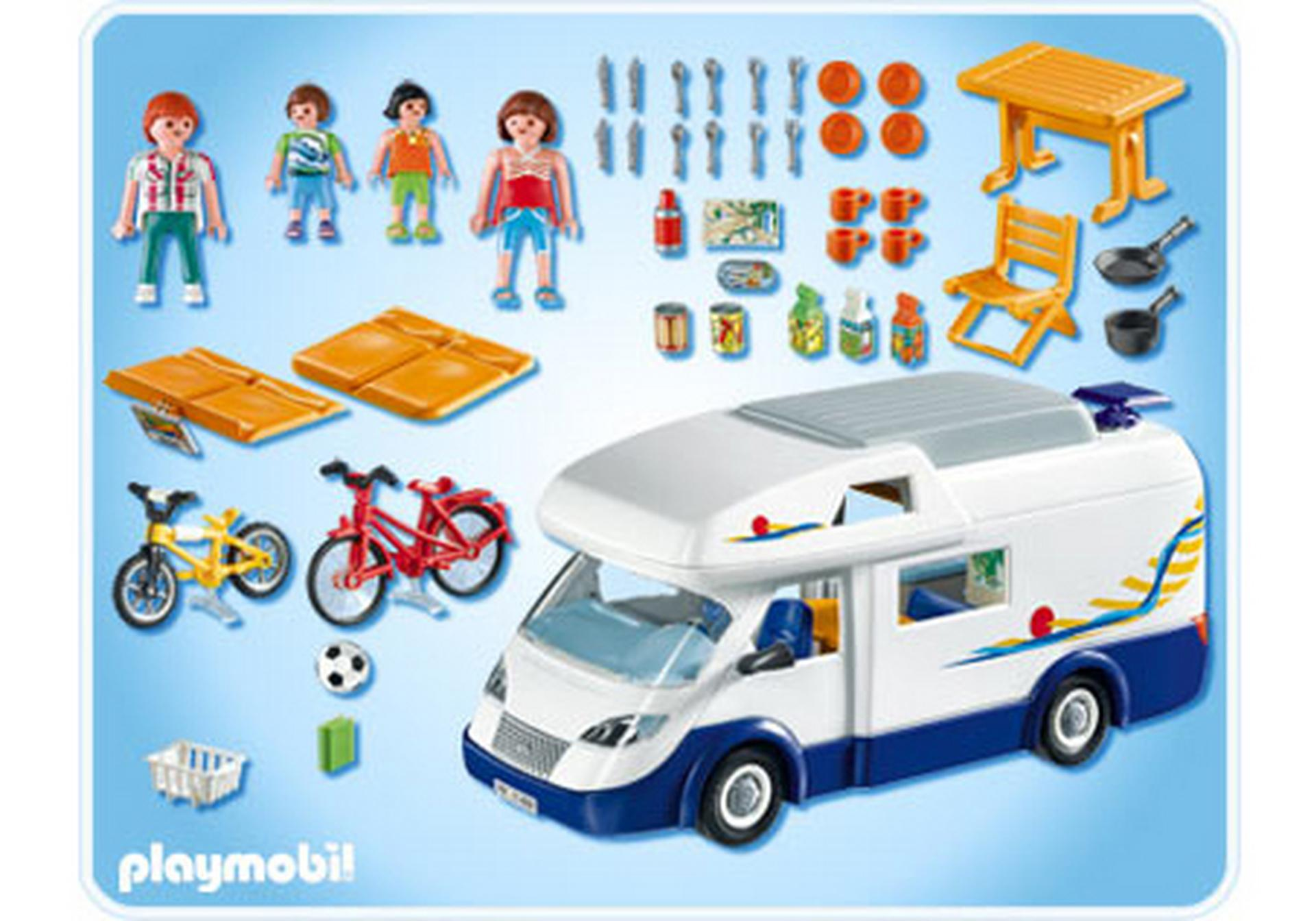 Grand camping car familial 4859 a playmobil france for Modele maison playmobil