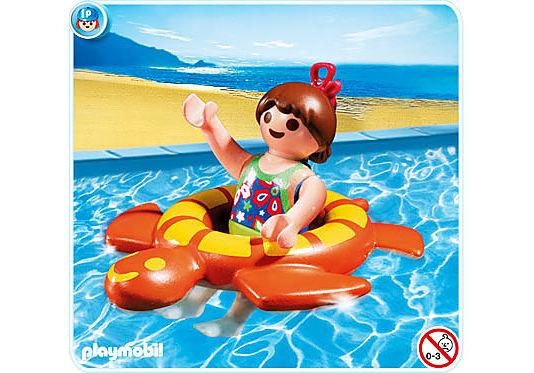 4860-A Mädchen mit Schwimmreif detail image 1