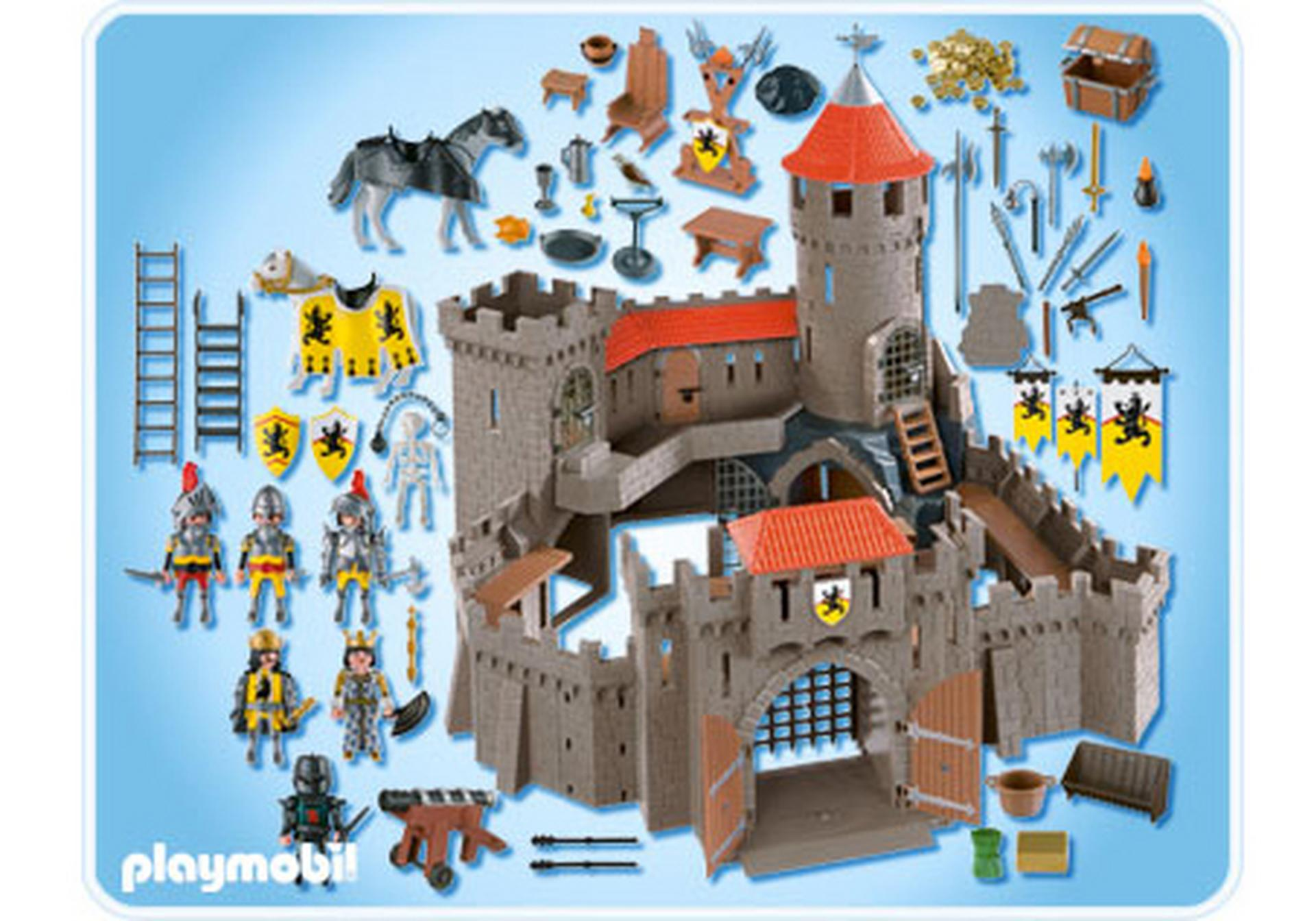 Ch teau fort des chevaliers du lion 4865 a playmobil for Plan chateau fort playmobil