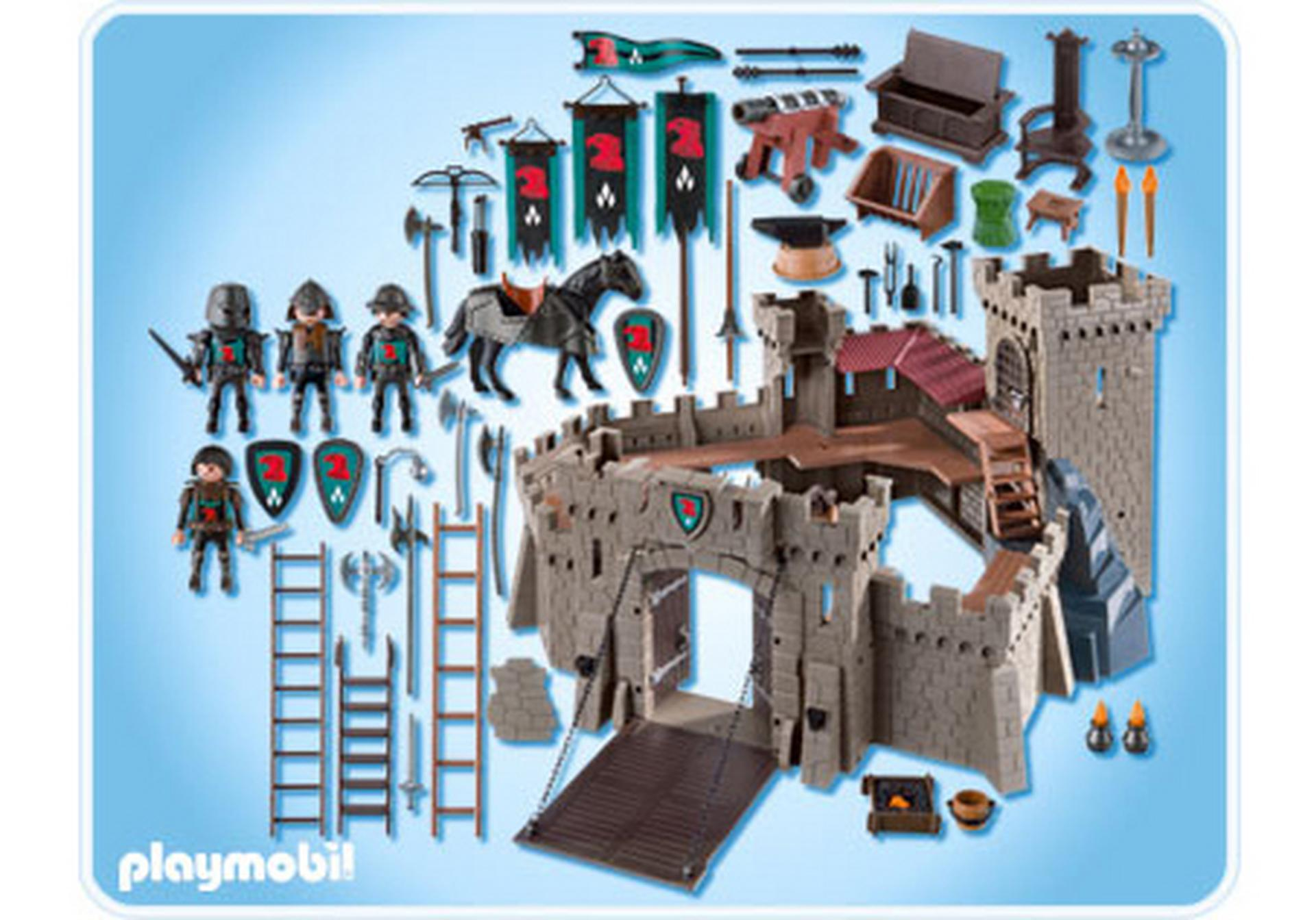 Forteresse des chevaliers du faucon 4866 a playmobil for Plan chateau fort playmobil