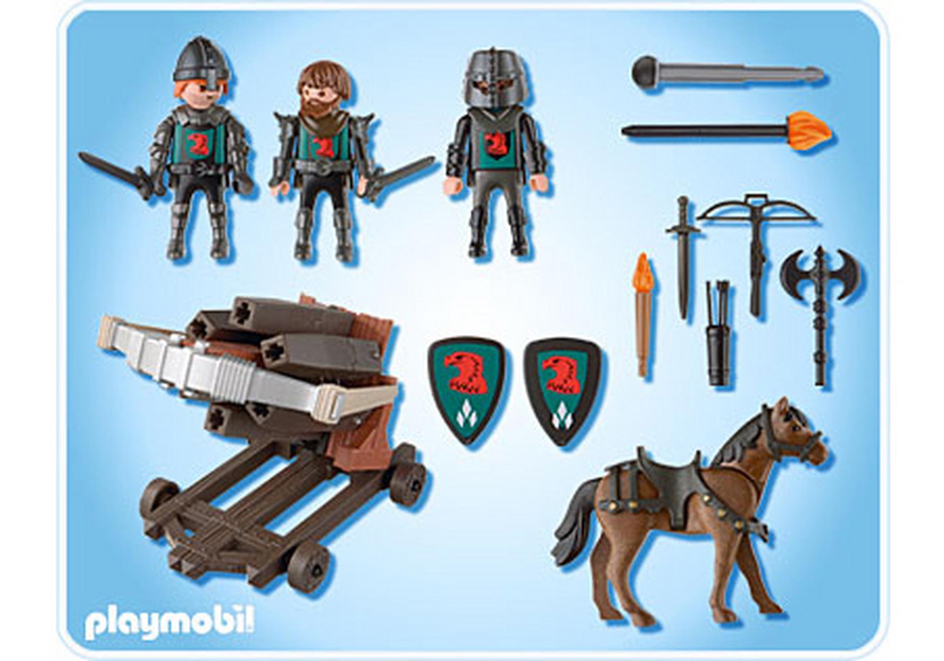 Baliste 6 projectiles et chevaliers du faucon 4868 a for Notice de montage chateau princesse playmobil