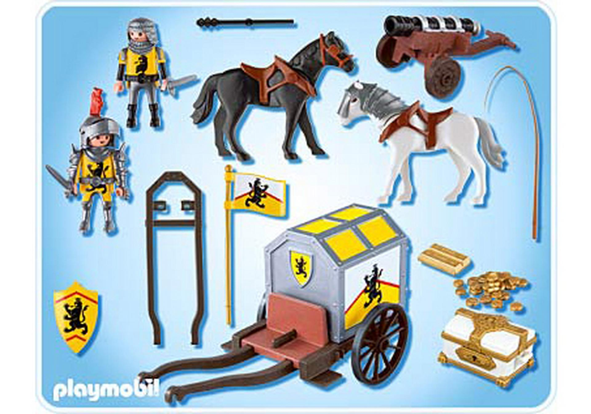 lion knights treasure transport - Playmobile Chevalier