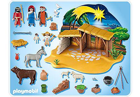 Playmobil Weihnachtskrippe.Grosse Krippe Mit Stall 4884 A Playmobil Deutschland