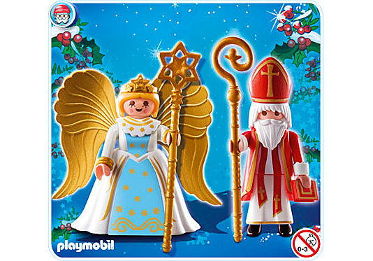 4887-A Saint Nicolas et Ange detail image 1