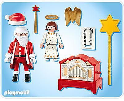 4889-A Père Noël et petit ange detail image 2
