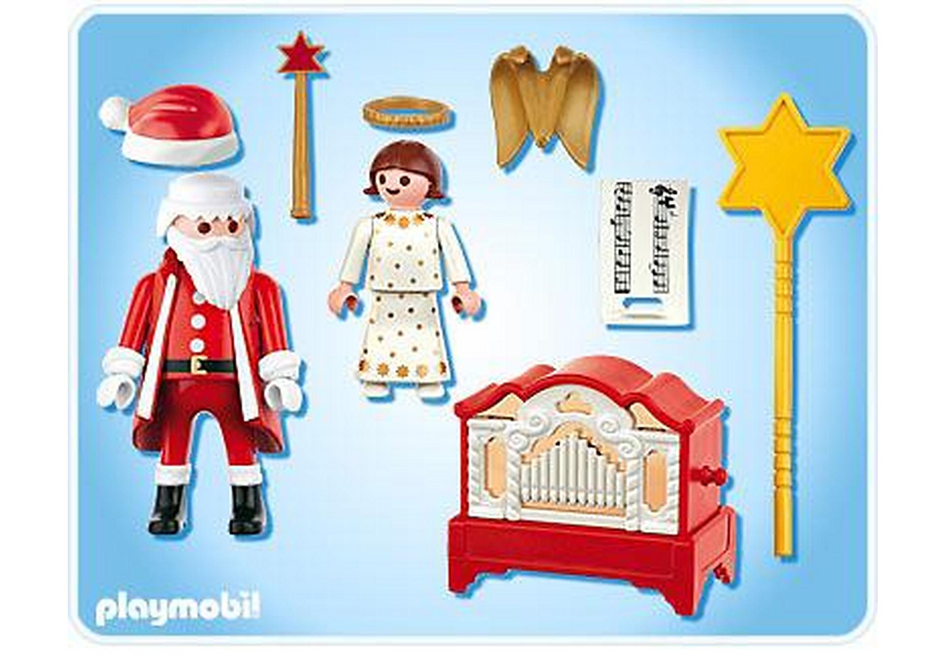 4889-A Père Noël et petit ange zoom image2