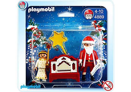4889-A Père Noël et petit ange detail image 1