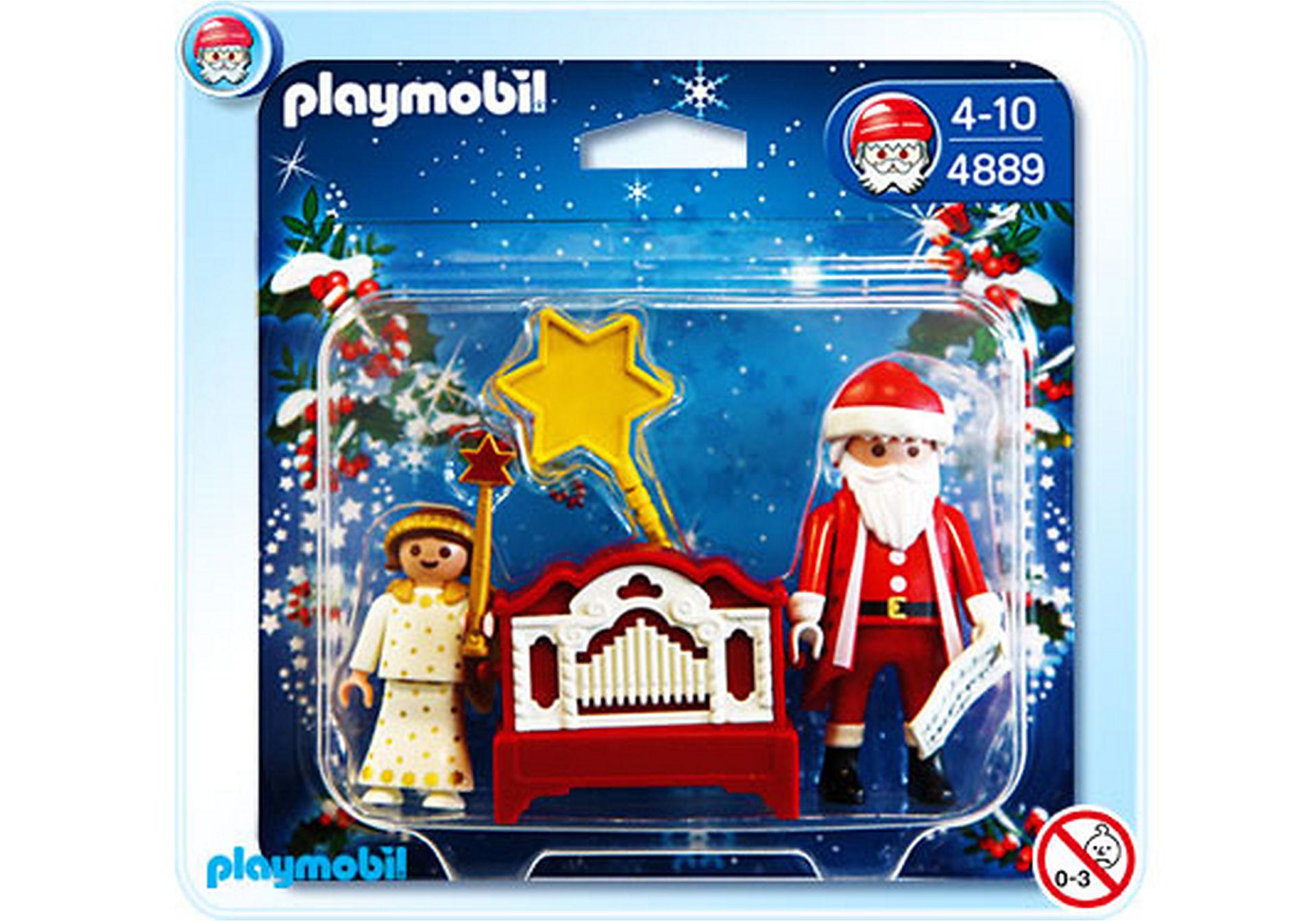 4889-A Père Noël et petit ange zoom image1