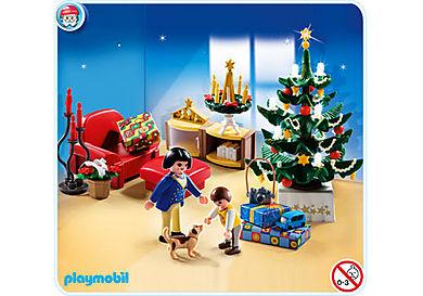 4892-A Salon avec décorations de Noël
