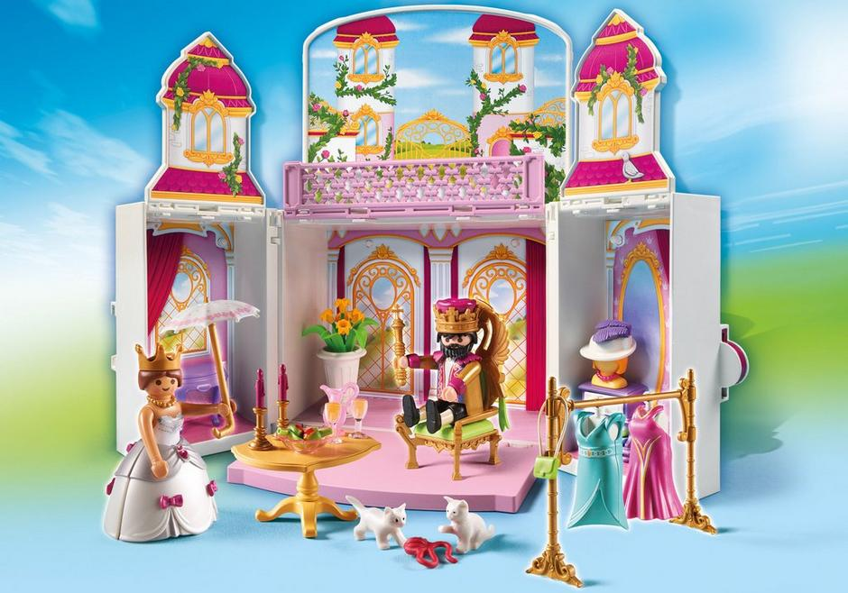 Aufklapp spiel box k nigsschloss 4898 playmobil for Chateau playmobil princesse 5142