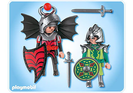 4912-A Playmobil Duo Chevaliers dragons detail image 2