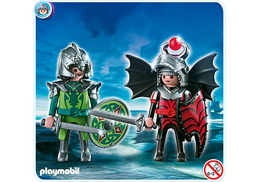 4912-A Playmobil Duo Chevaliers dragons detail image 1