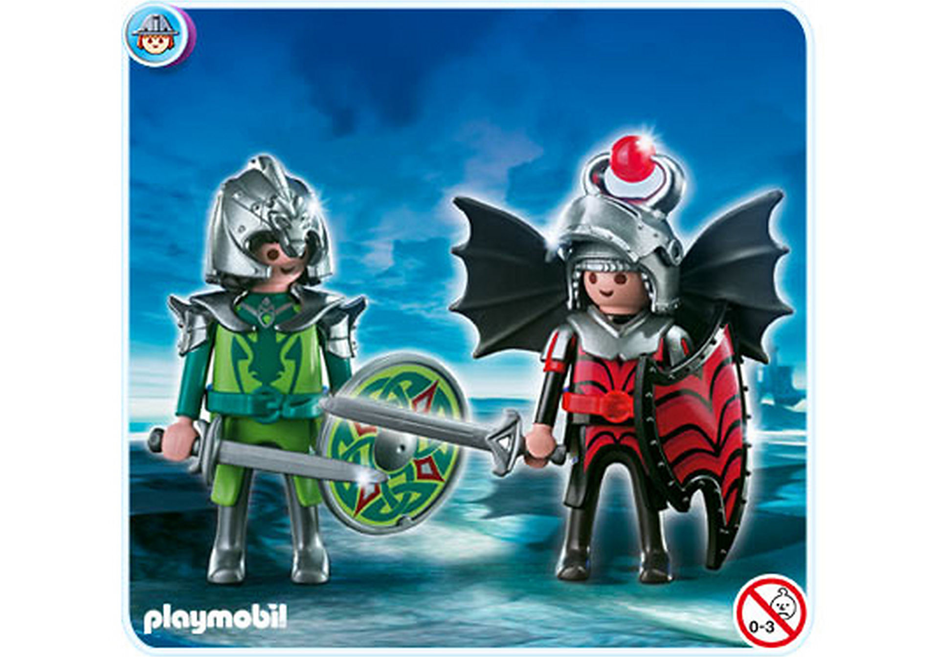 4912-A Playmobil Duo Chevaliers dragons zoom image1