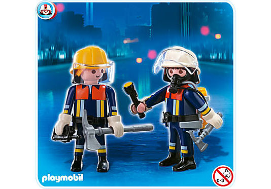 4914-A Playmobil Duo Pompiers detail image 1