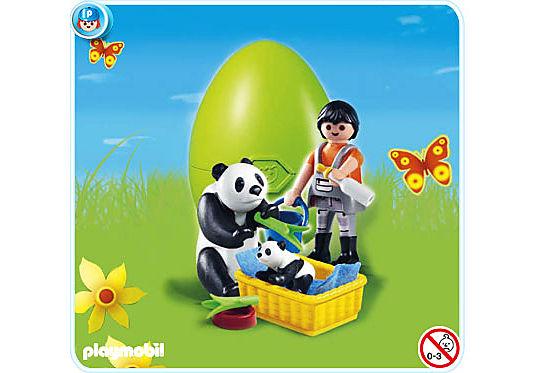 4922-A Tierpfleger mit Pandas detail image 1