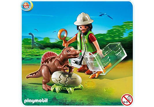 4925-A Forscherin mit Dino-Baby detail image 1