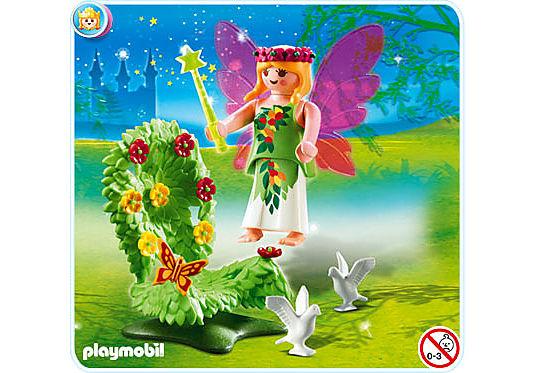4927-A  Fée avec trône fleuri detail image 2