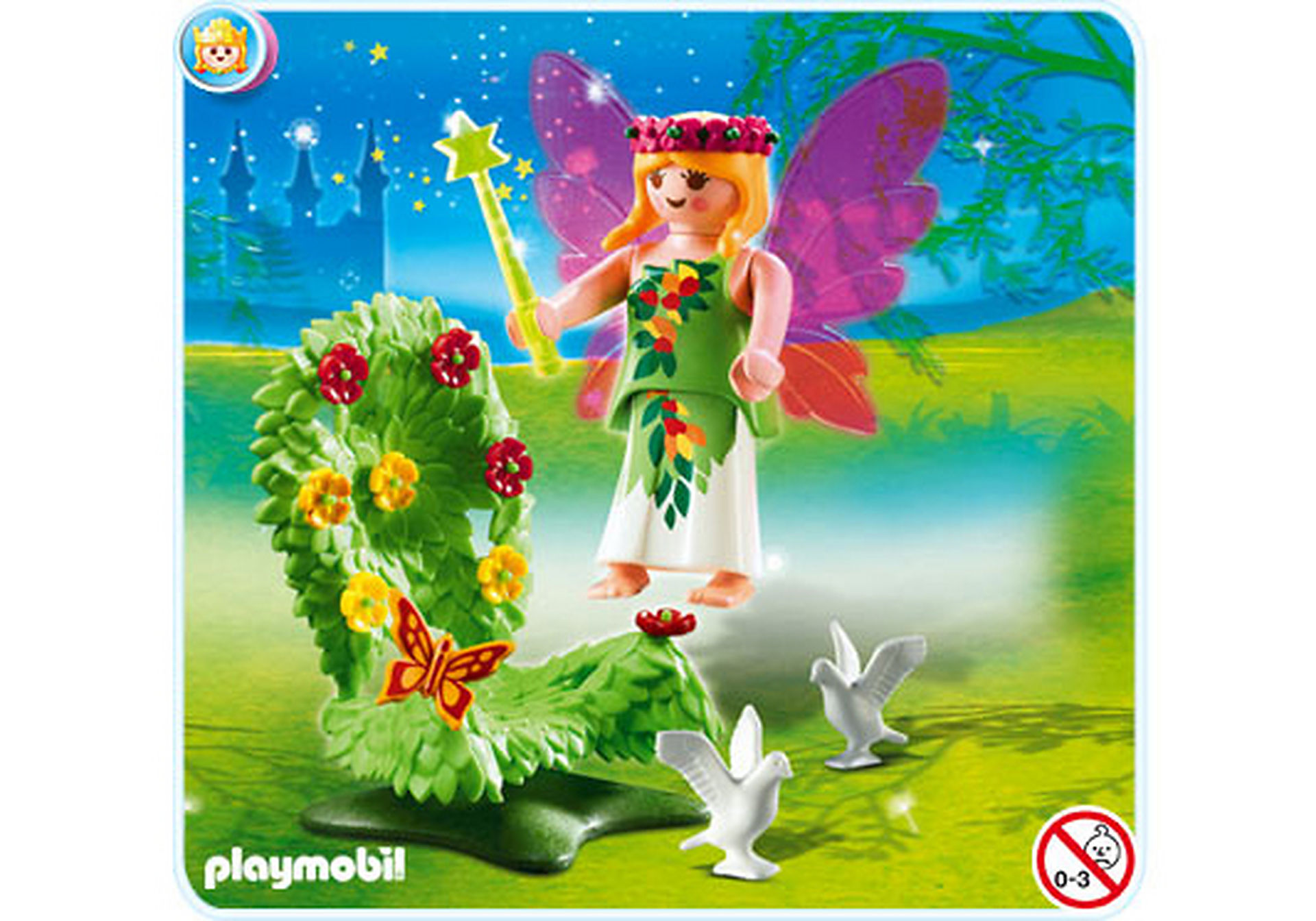 4927-A  Fée avec trône fleuri zoom image1