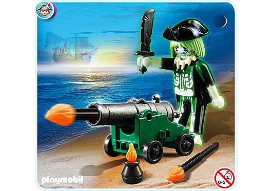 4928-A Pirate fantôme avec canon detail image 2