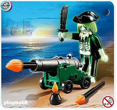 4928-A Pirate fantôme avec canon detail image 1