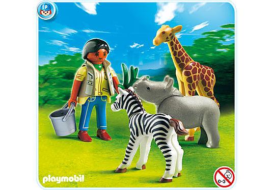 4931-A Pflegerin mit Tierbabys detail image 1