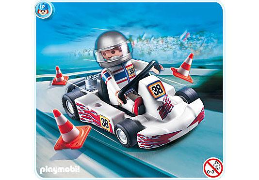 4932-A Rennfahrer mit Go-Kart detail image 1