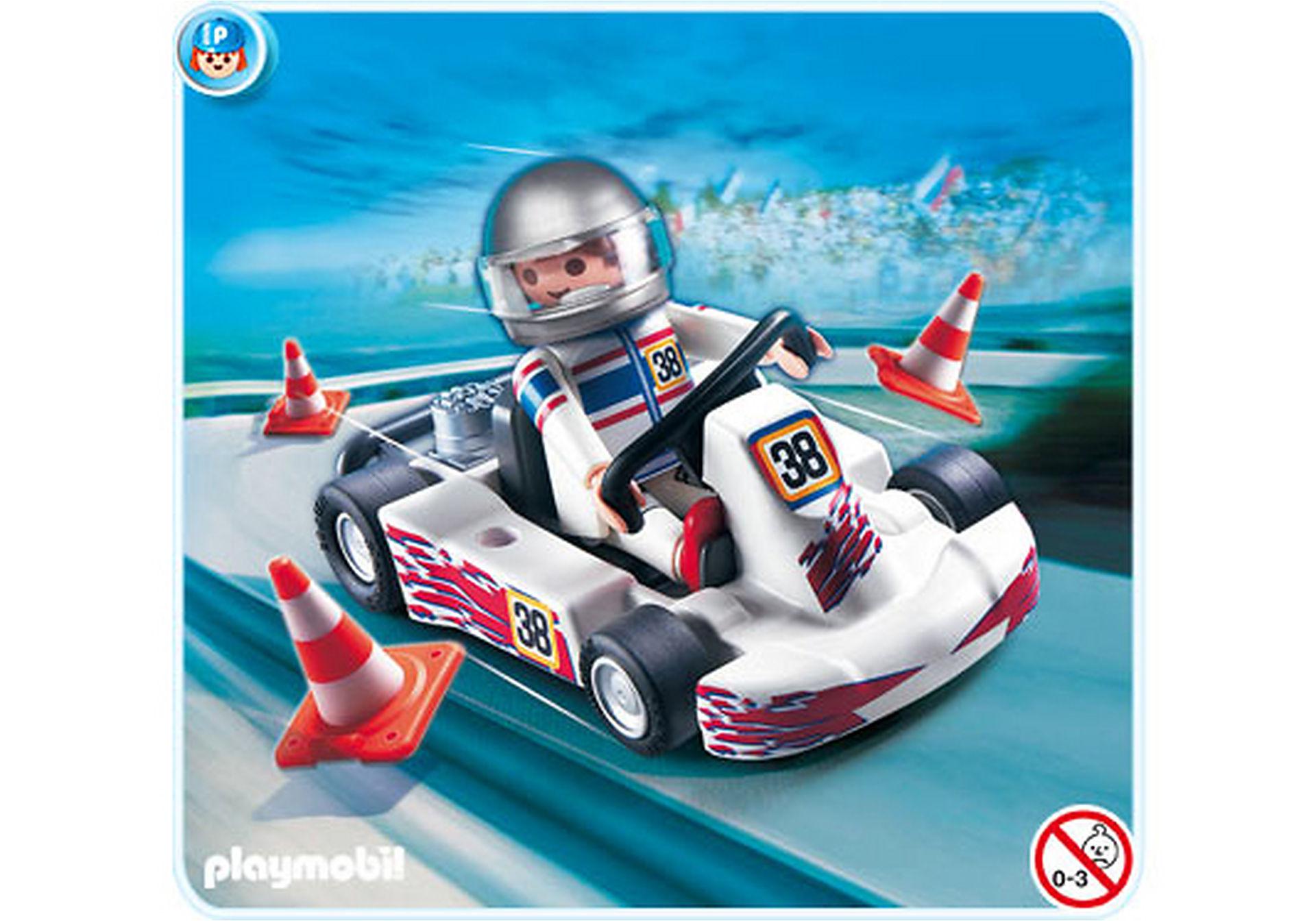 4932-A Rennfahrer mit Go-Kart zoom image1