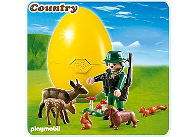 4938-A Jäger mit Waldtieren