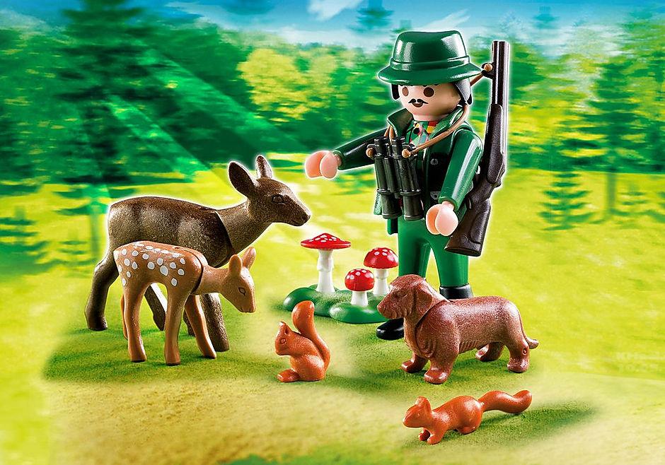 4938 Jäger mit Waldtieren detail image 1