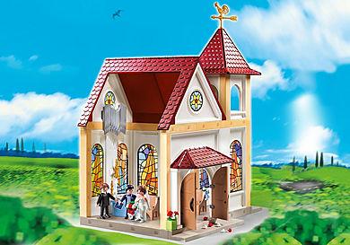 5053_product_detail/Eglise avec couple de mariés