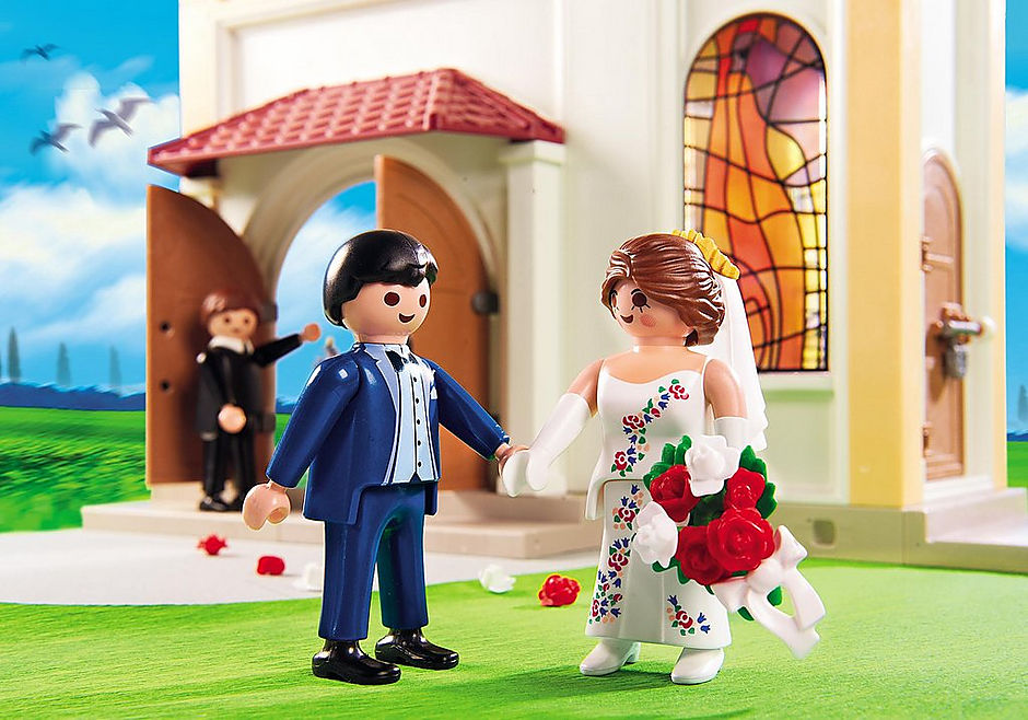 http://media.playmobil.com/i/playmobil/5053_product_extra2/Eglise avec couple de mariés