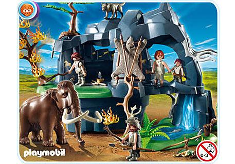 5100-A Große Steinzeithöhle mit Mammut detail image 1