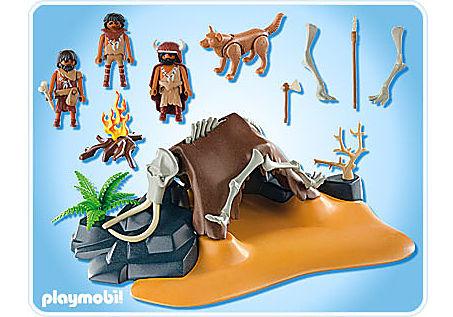 5101-A Mammutknochen-Zelt mit Jägern detail image 2