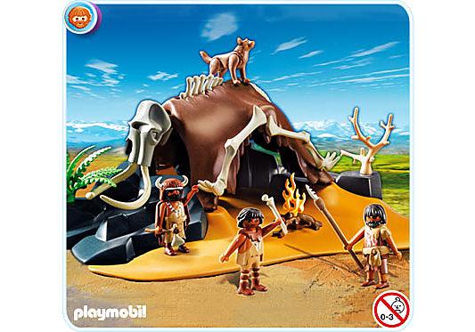 5101-A Mammutknochen-Zelt mit Jägern detail image 1
