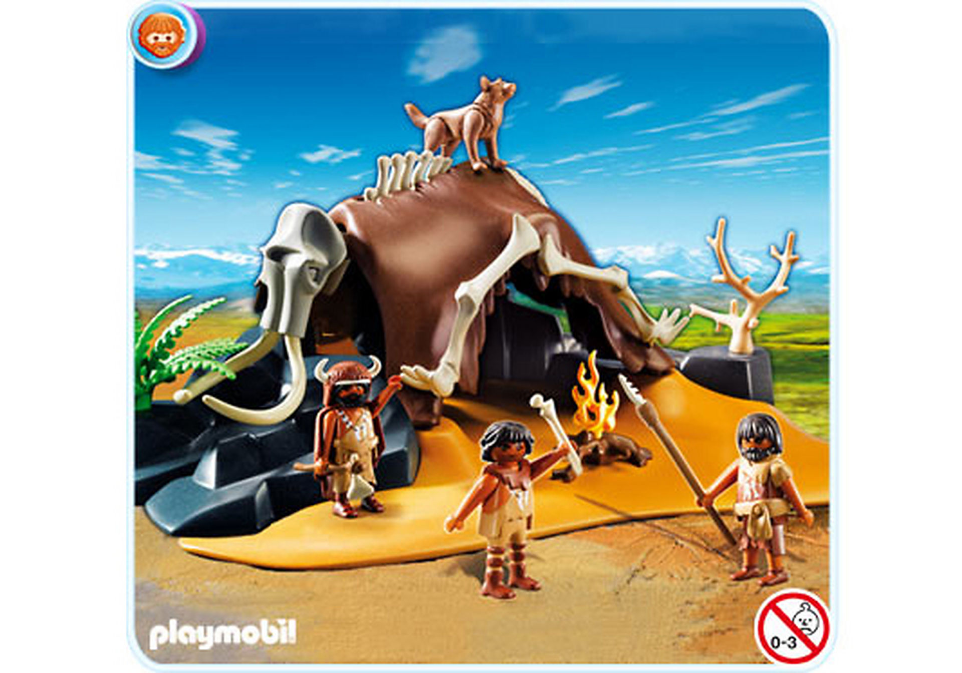 5101-A Mammutknochen-Zelt mit Jägern zoom image1
