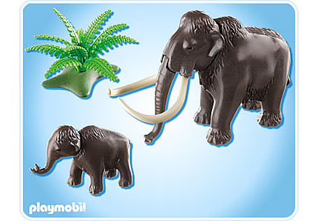 5105-A Mammut mit Baby detail image 2