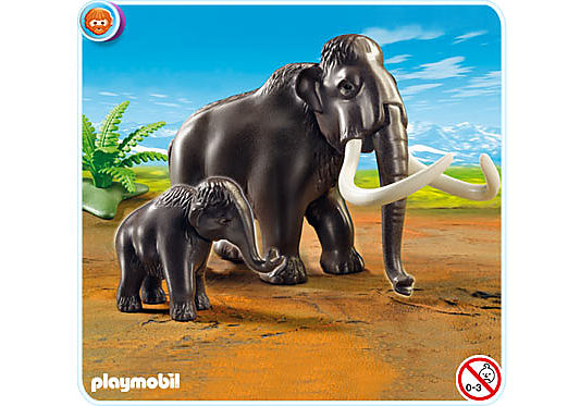 5105-A Mammut mit Baby detail image 1