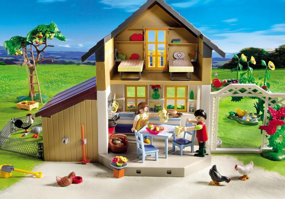 maison des fermiers et march 5120 playmobil canada. Black Bedroom Furniture Sets. Home Design Ideas