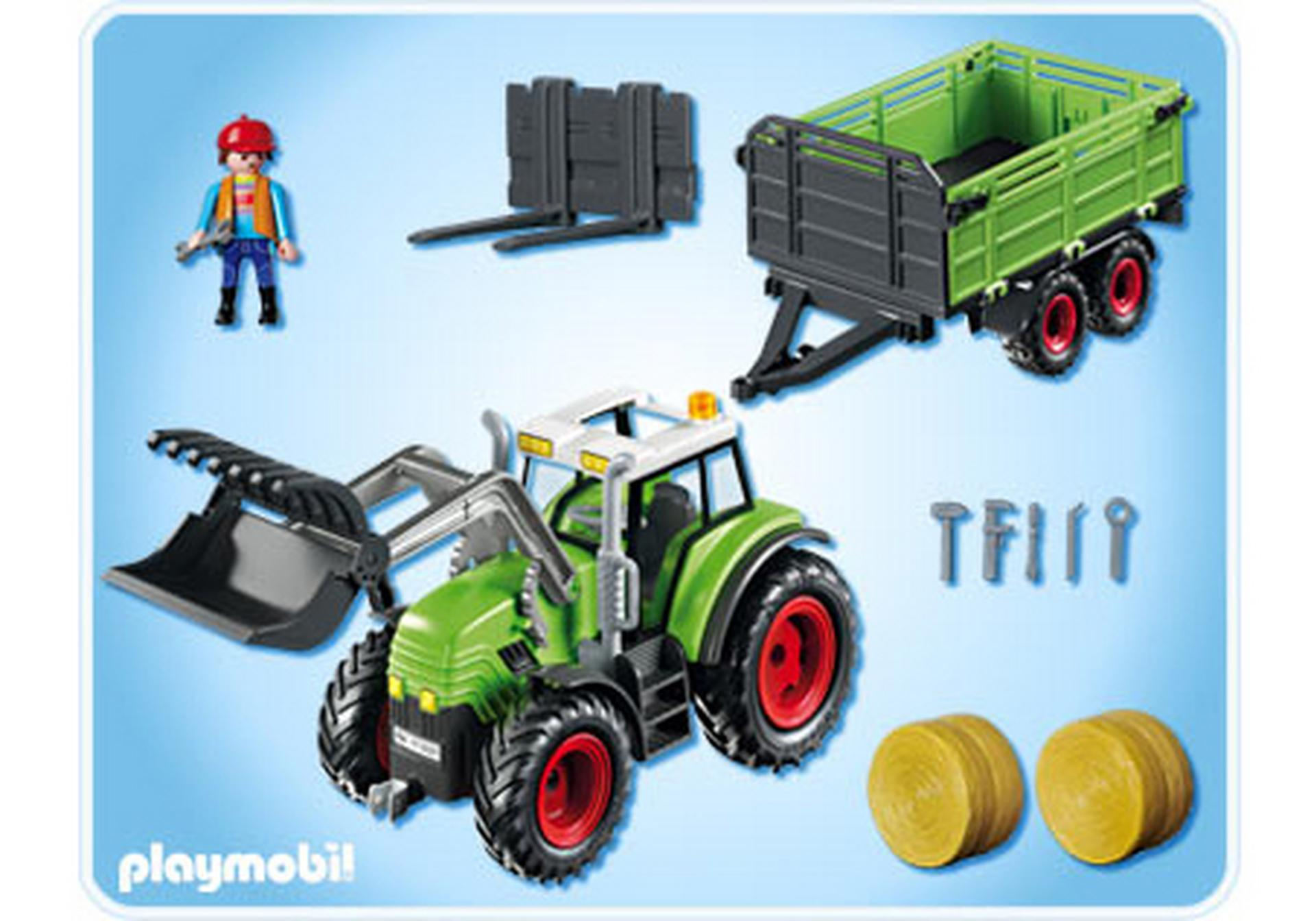 riesen traktor mit anh nger 5121 a playmobil deutschland. Black Bedroom Furniture Sets. Home Design Ideas