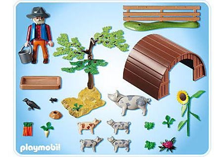 5122-A Fleckschweine im Gehege detail image 2